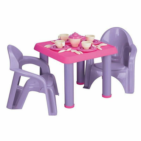 American Plastic Toys 13620 Tea Party Play Set with 28 Piece Accessory Play Set | Ebay