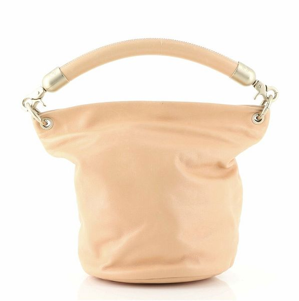 Chanel Vintage CC Handle Bucket Bag Leather Medium  | eBay