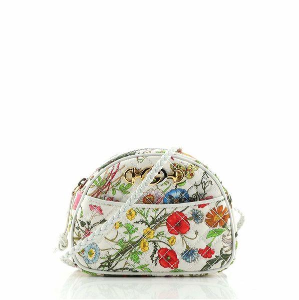 Gucci Trapuntata Camera Shoulder Bag Quilted Flora Canvas Mini  | eBay
