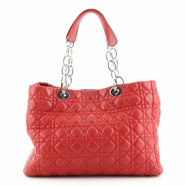 Christian Dior Soft Chain Tote Cannage Quilt Lambskin Large    eBay