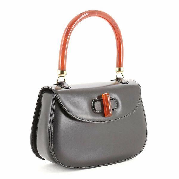Gucci Vintage Convertible Bakelite Top Handle Bag Leather Small  | eBay