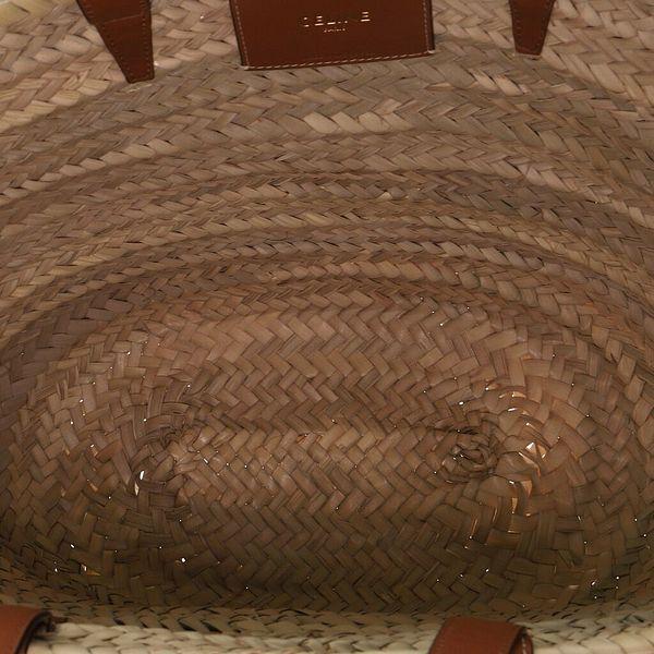 Celine Triomphe Basket Shoulder Bag Raffia with Leather Large    eBay