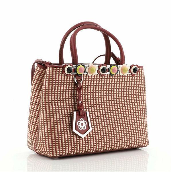 Fendi Flowerland 2Jours Bag Woven Raffia and Leather Petite    eBay