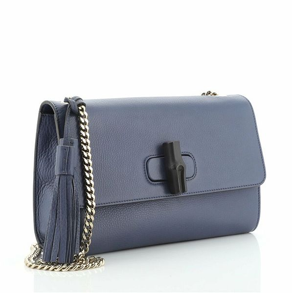 Gucci Miss Bamboo Shoulder Bag Leather Medium    eBay