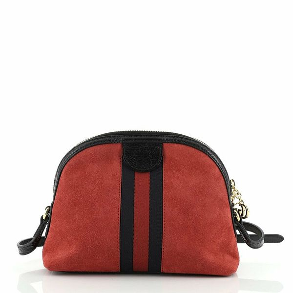 Gucci Ophidia Dome Shoulder Bag Suede Small  | eBay