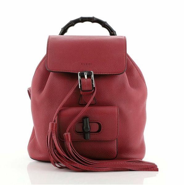 Gucci Bamboo Tassel Backpack Leather Mini  | eBay