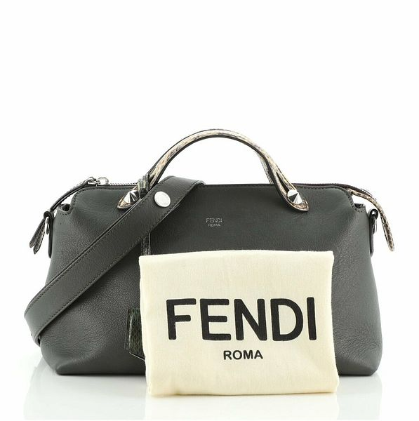 Fendi By The Way Satchel Leather with Python Small  | eBay