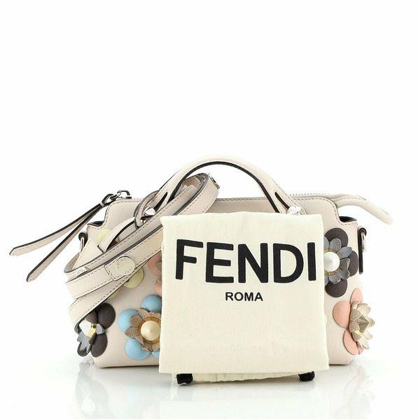 Fendi By The Way Satchel Floral Embellished Leather Mini    eBay