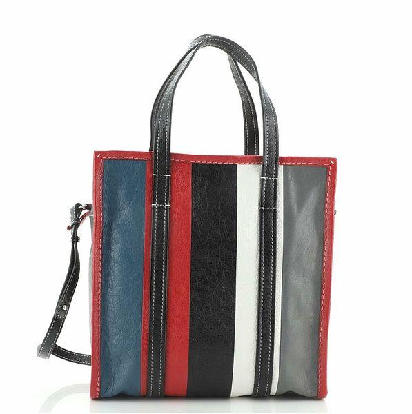 Balenciaga Bazar Convertible Tote Striped Leather Small    eBay