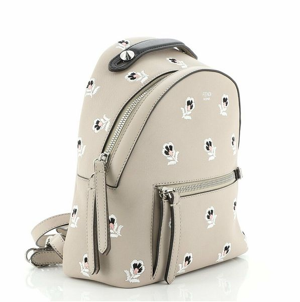 Fendi By The Way Backpack Embroidered Leather Mini  | eBay