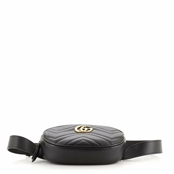 Gucci GG Marmont Belt Bag Matelasse Leather 75  | eBay