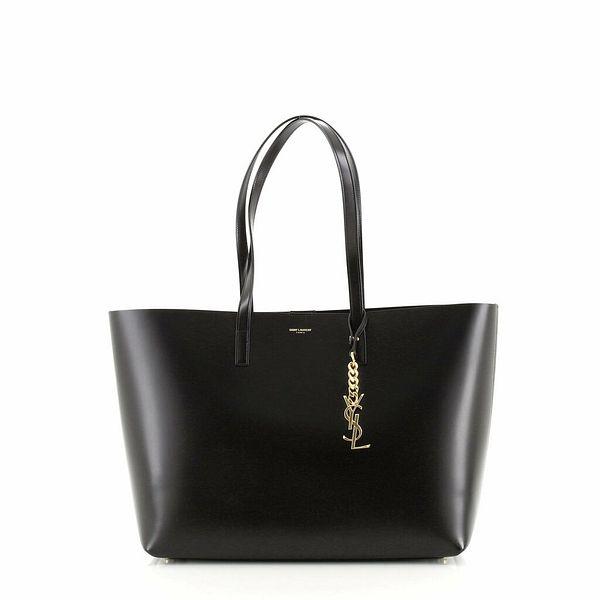 Saint Laurent Classic Monogram Charm Shopper Tote Leather Medium    eBay