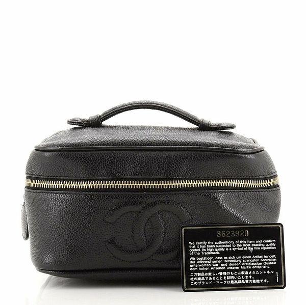 Chanel Vintage Timeless Cosmetic Case Caviar Medium  | eBay