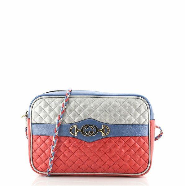 Gucci Trapuntata Camera Bag Quilted Laminated Leather Medium    eBay