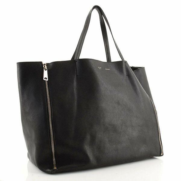 Celine Horizontal Gusset Cabas Tote Leather Large  | eBay