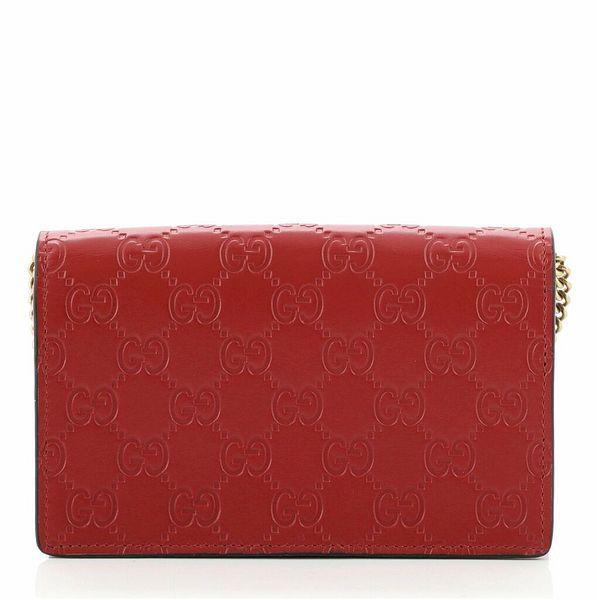 Gucci Cherries Wallet on Chain Guccissima Leather Mini  | eBay