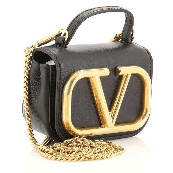 Valentino Supervee Chain Crossbody Bag Leather Micro  | eBay