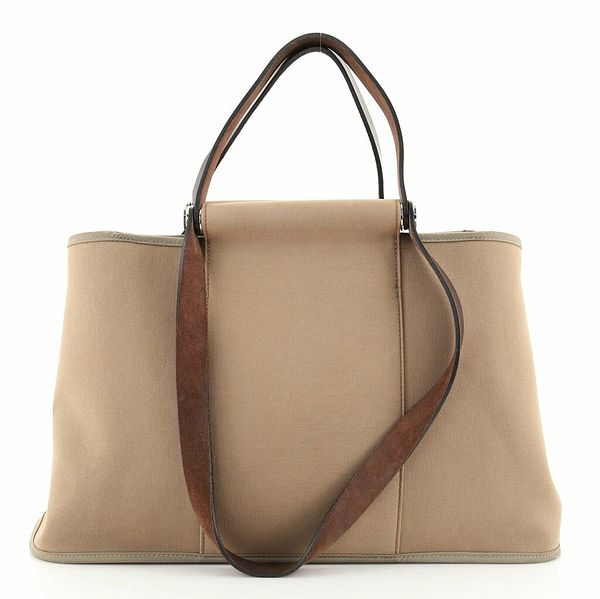 Hermes Cabas Elan Toile and Leather 39    eBay