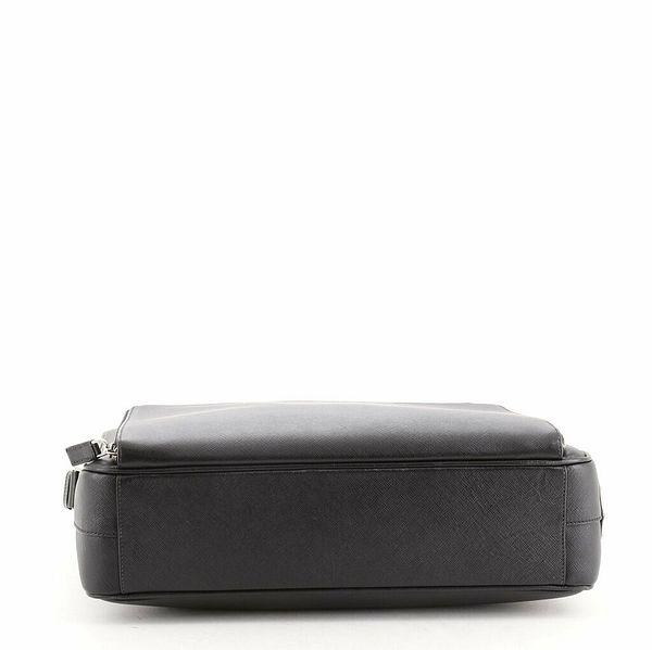 Prada Square Zip Around Pocket Messenger Saffiano Leather Large    eBay