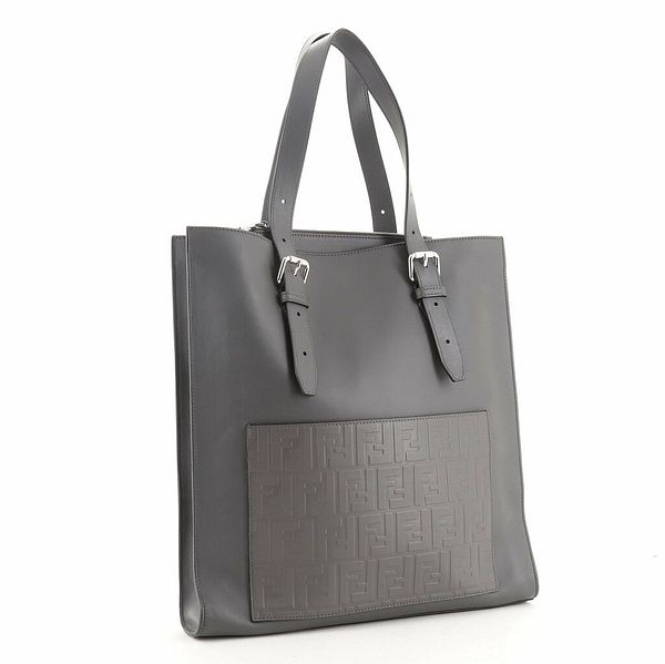 Fendi St. Zucca Slim Tote Leather with Embossed Zucca Detail    eBay