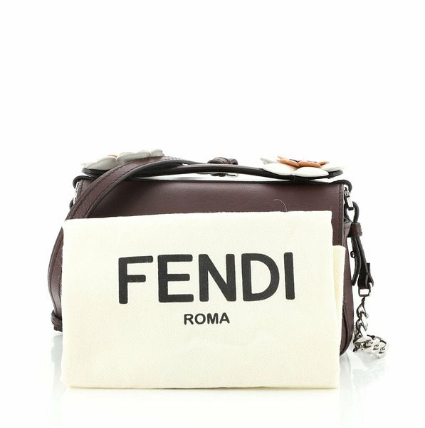 Fendi Flowerland Double Baguette Crossbody Bag Leather Micro    eBay