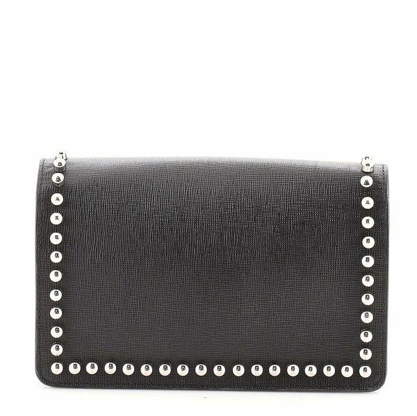 Fendi Karlito Wallet on Chain Studded Saffiano Leather    eBay