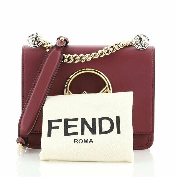 Fendi Kan I F Shoulder Bag Leather Small    eBay
