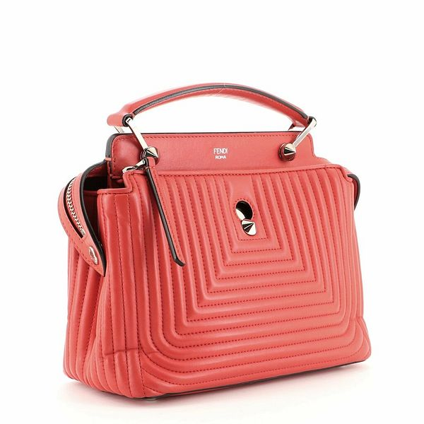 Fendi DotCom Click Top Handle Bag Quilted Leather Small    eBay