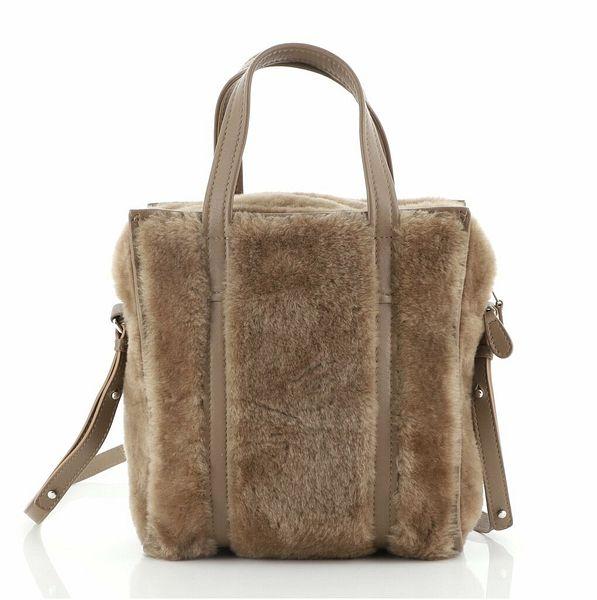 Balenciaga Bazar Convertible Tote Shearling XS    eBay