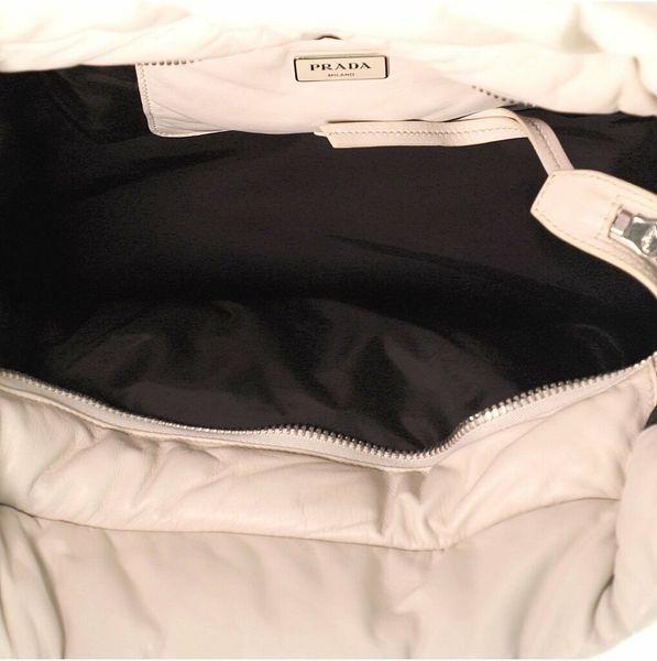 Prada Bomber Convertible Tote Nappa Leather Medium  | eBay
