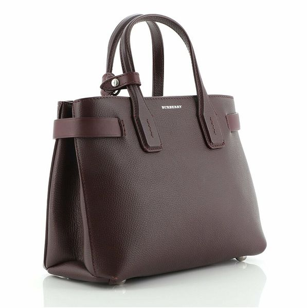 Burberry Banner NM Tote Leather with Vintage Check Canvas Small    eBay