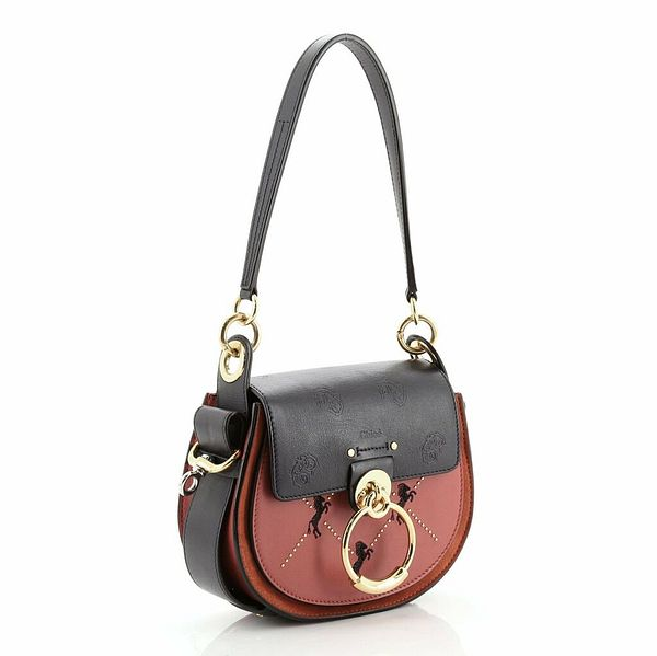 Chloe Tess Bag Embroidered Leather Small  | eBay