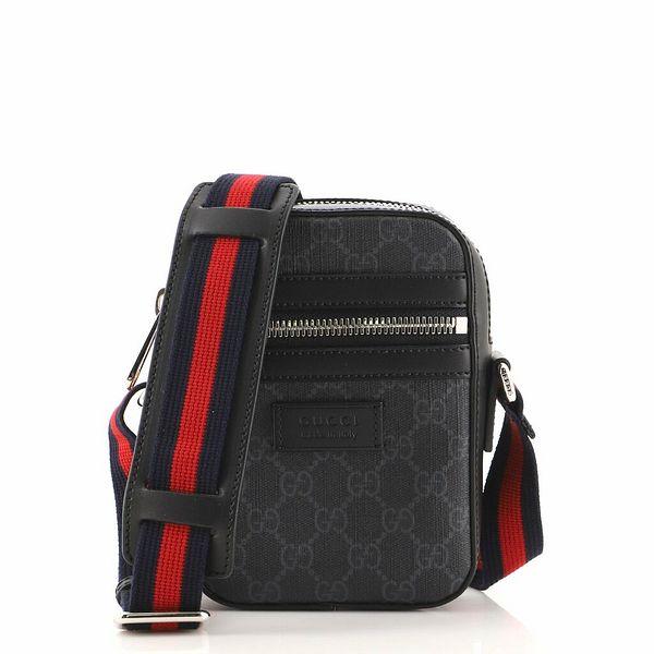 Gucci Web Strap Front Zip Messenger Bag GG Coated Canvas Mini    eBay