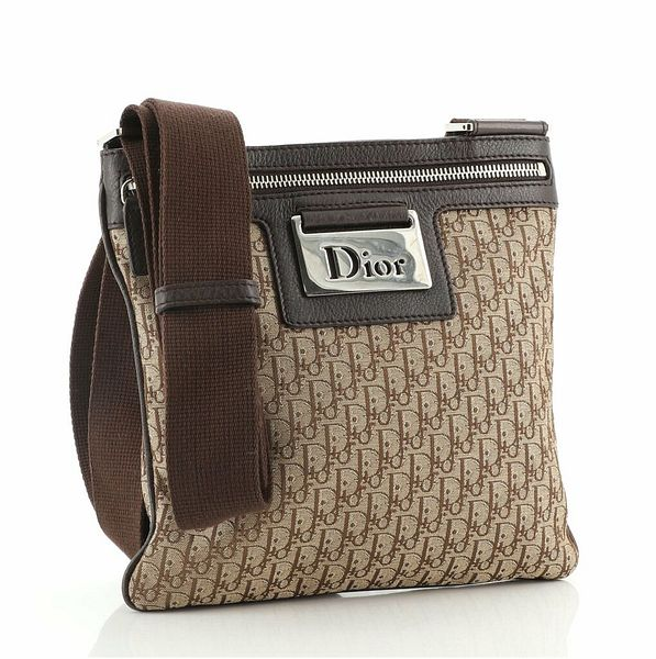 Christian Dior Vintage Zip Messenger Bag Diorissimo Canvas and Leather Small  | eBay