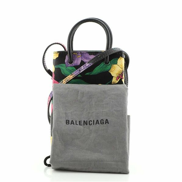 Balenciaga Shopping Phone Holder Printed Leather    eBay