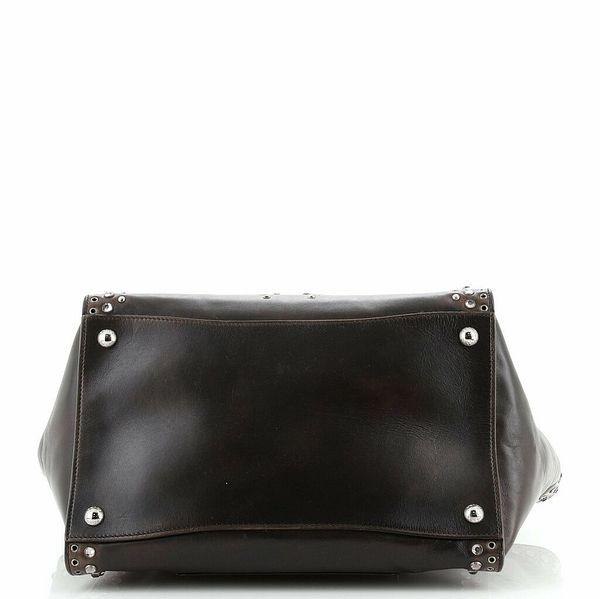 Prada Twin Pocket Tote Grommet Embellished Leather Medium  | eBay