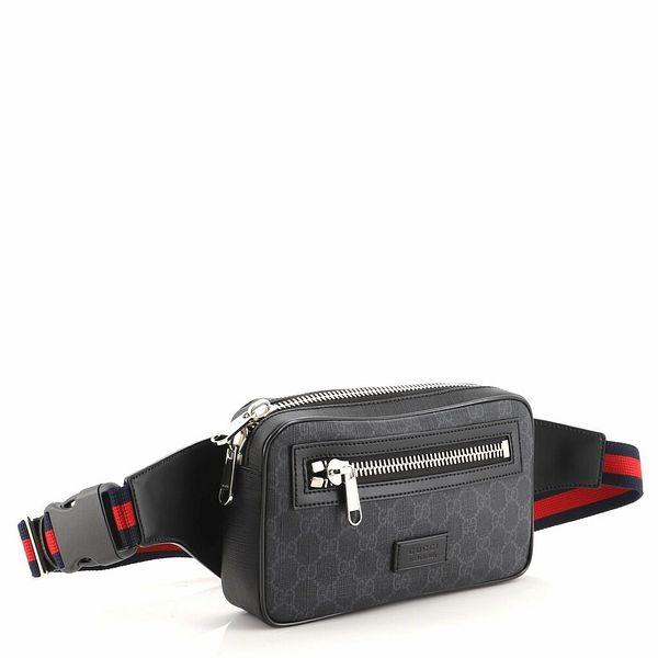 Gucci Soft Zip Belt Bag GG Coated Canvas Small    eBay