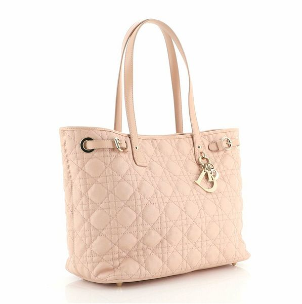 Christian Dior Panarea Tote Cannage Quilt Canvas Small  | eBay
