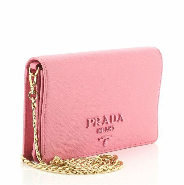 Prada Monochrome Chain Flap Bag Saffiano Leather Small    eBay