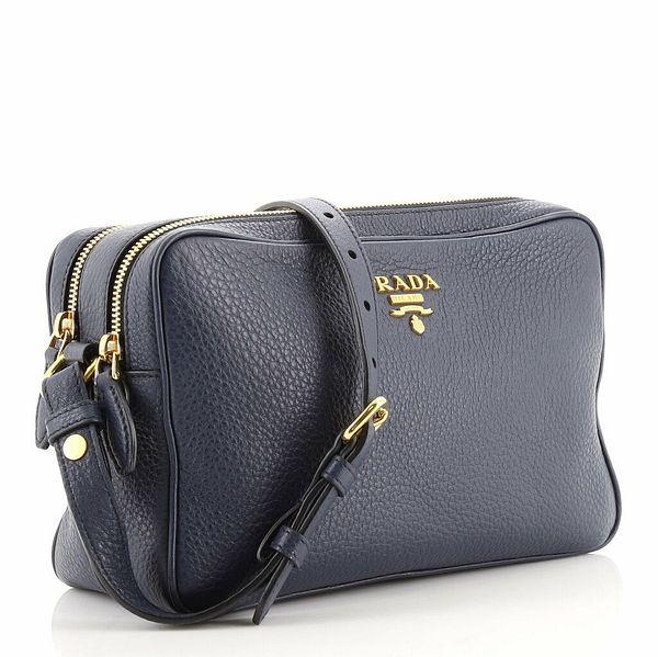 Prada Double Zip Camera Bag Vitello Daino  | eBay