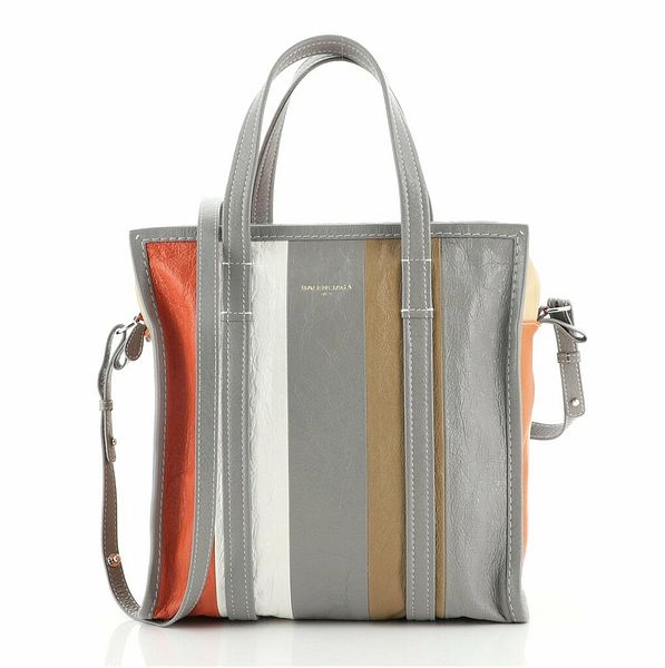 Balenciaga Bazar Convertible Tote Striped Leather Small  | eBay