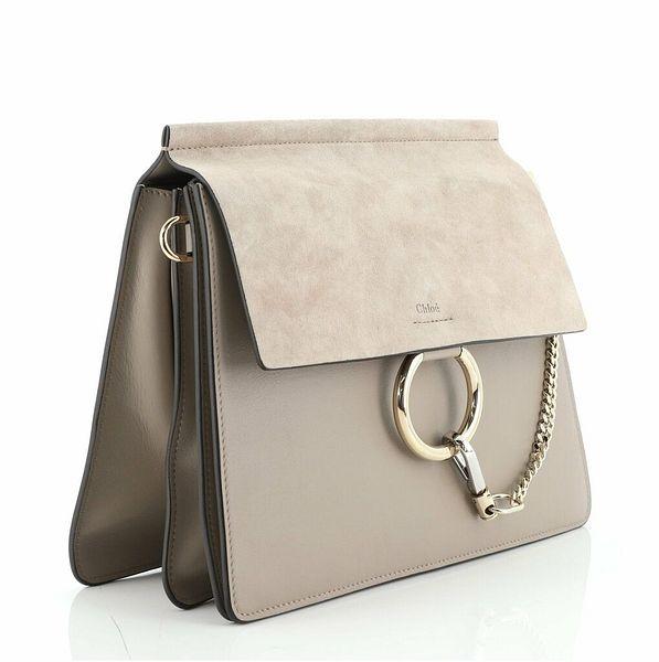 Chloe Faye Shoulder Bag Leather and Suede Medium  | eBay