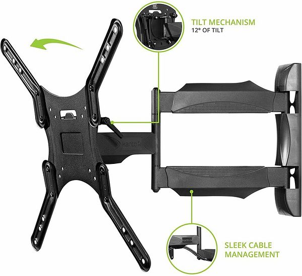 Kanto M300 Full Motion TV Mount for 26 Inch to 55 Inch TVs - Black | Ebay