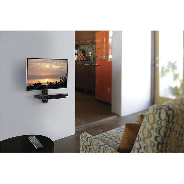 OmniMount AV Wall Single Shelf with Adjustable Height in Black | Ebay