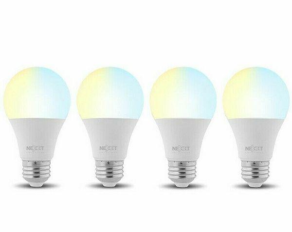 Nexxt Solutions 110V 800 Lumens Smart Wi-Fi LED Light Bulbs - 4 Pack   Ebay