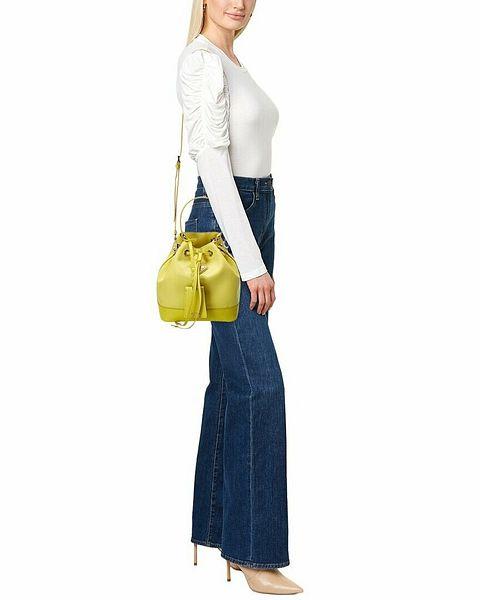 Prada Logo Nylon & Saffiano Leather Bucket Bag Women's  | eBay