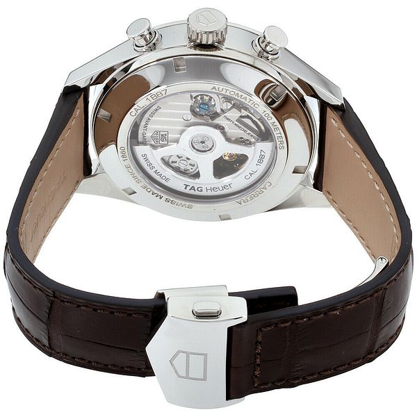 Tag Heuer Carrera Automatic Movement Silver Dial Men's Watch CAR2012.FC6236 | Ebay