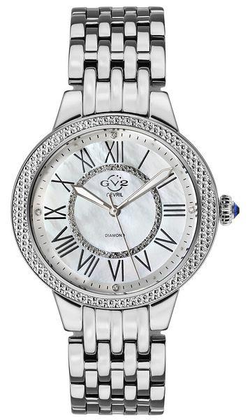 Gv2 By Gevril Women's 9140 Astor II Diamond MOP Dial Stainless Steel Watch | Ebay