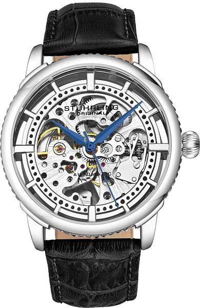 Stuhrling 3933 Men's Skeleton Automatic Self Wind Luxury Leather Dress Watch   Ebay