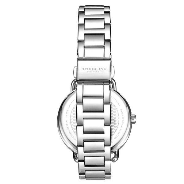 Stuhrling 3910 Women's Crystal Studded Fashion Stainless Steel Bracelet Watch | Ebay